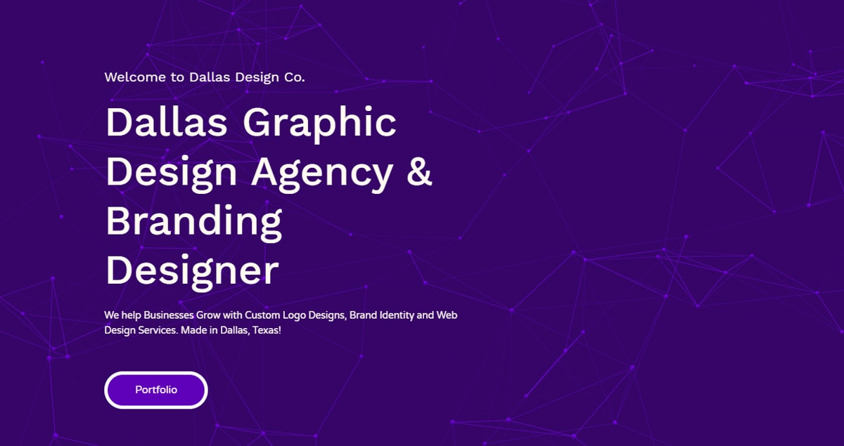 Graphic Design Agency Dallas Design Co Homepage
