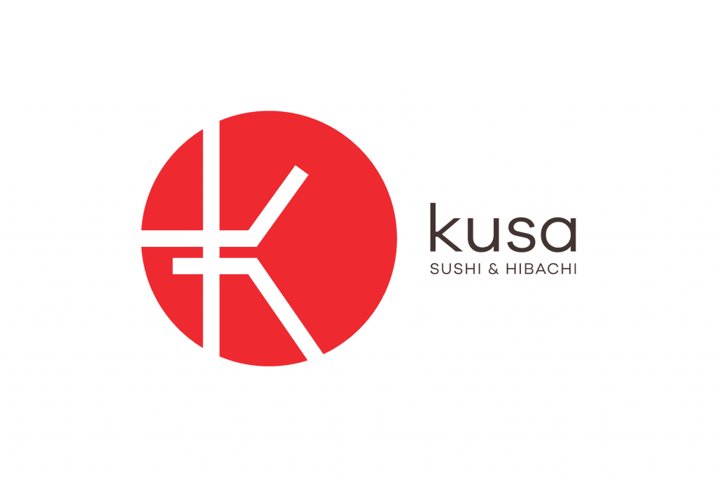 kusa asian restaurant logo design
