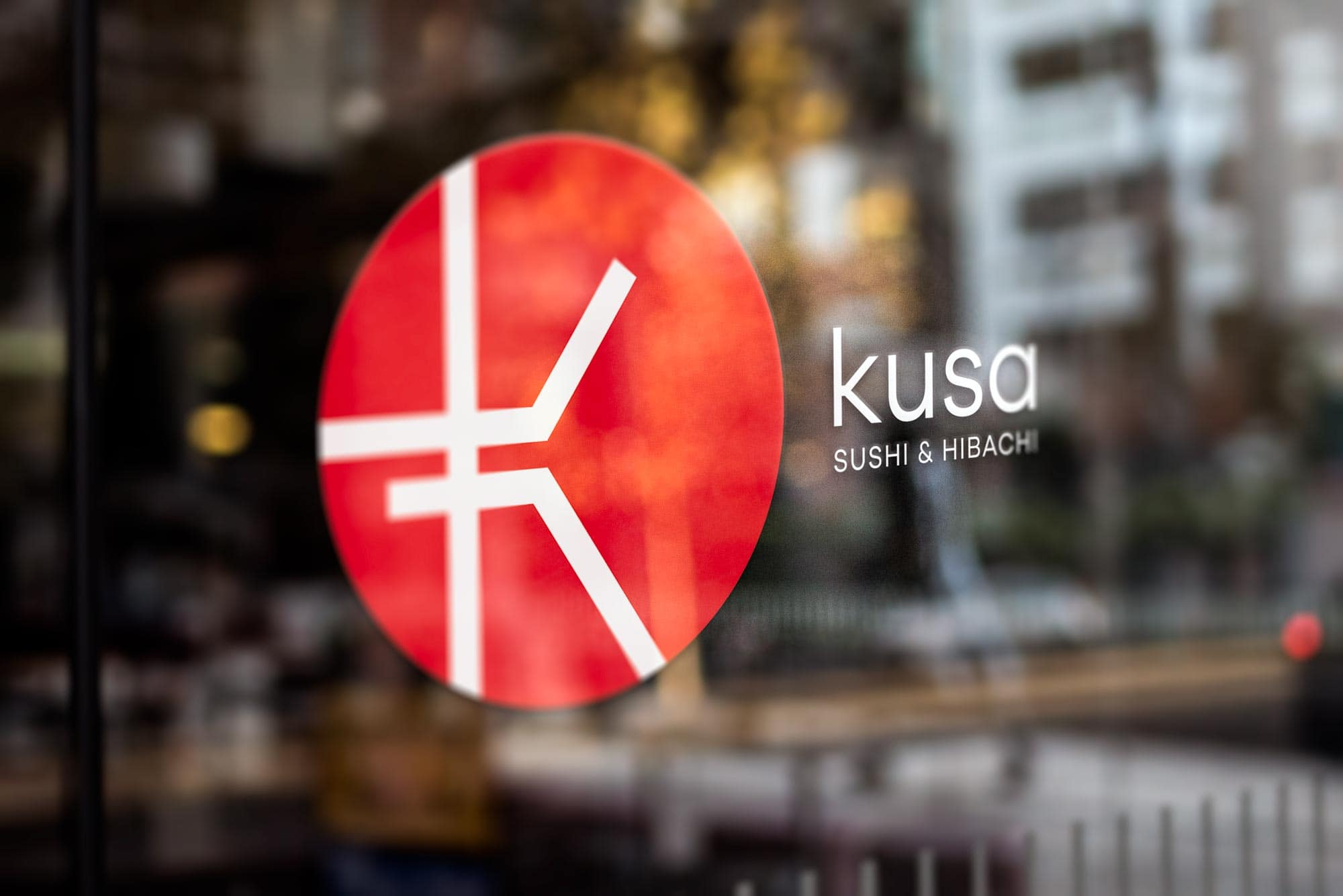 kusa window signage design