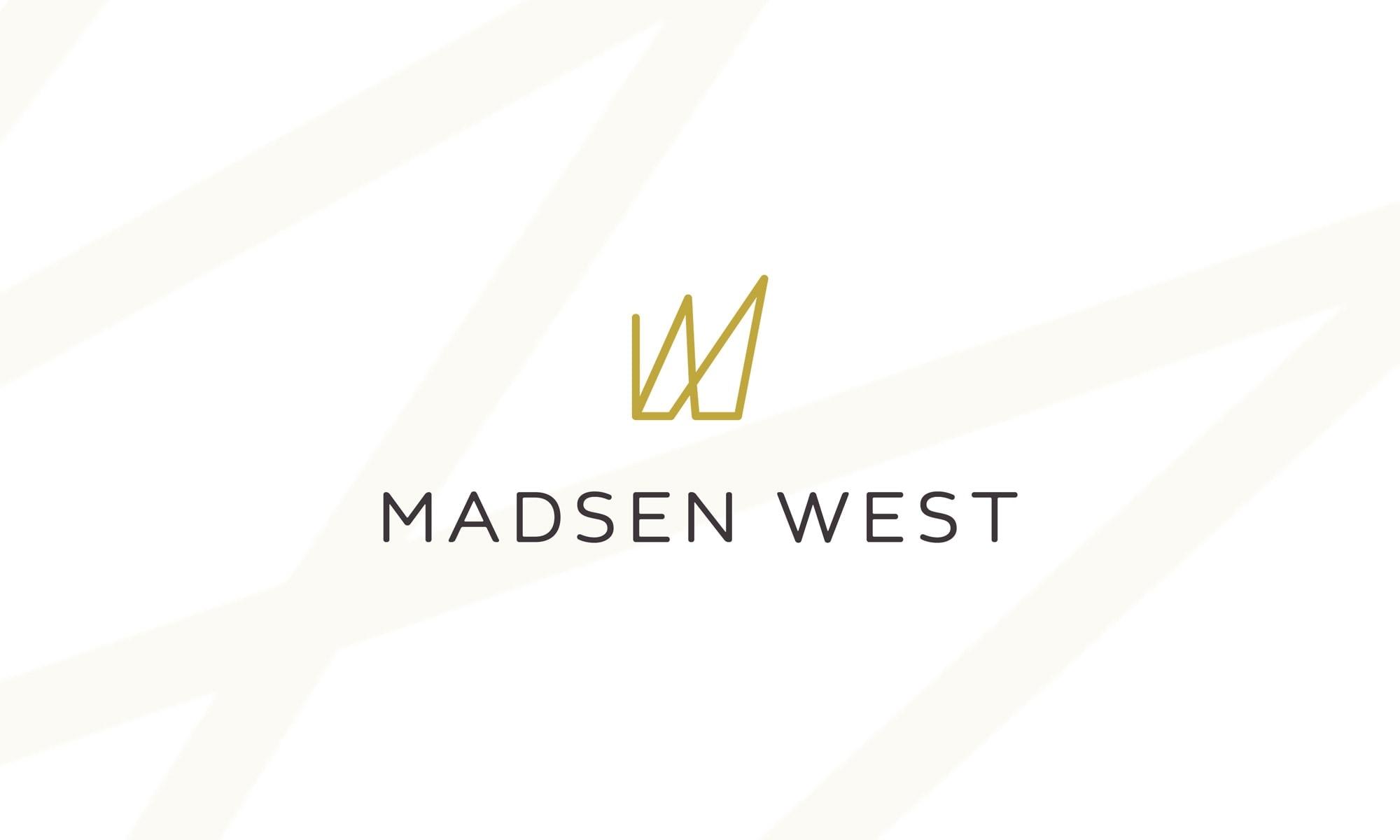 madsen west logo design branding