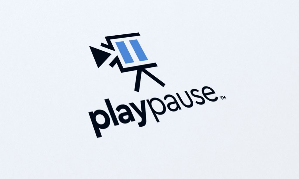 playpause logo design
