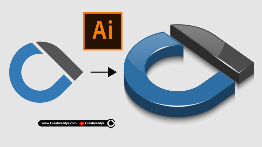 3D logo illustrator tutorial